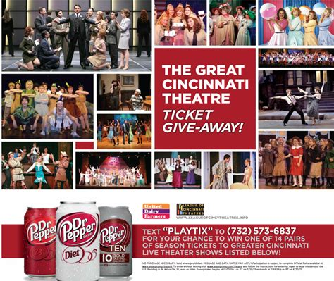 Pepsi Ticket Giveaway - league of cincinnati theatres pepsi udf great cincinnati theatre ticket giveaway