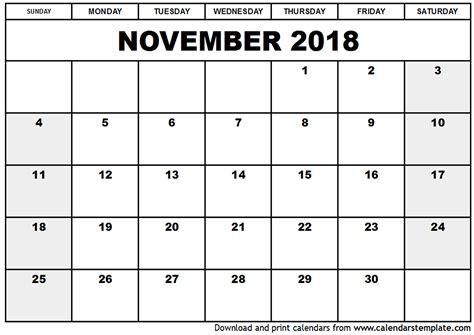Galerry printable daily planner november 2018