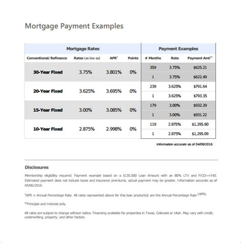 house payment calculator sle mortgage payment calculator 9 free documents in pdf