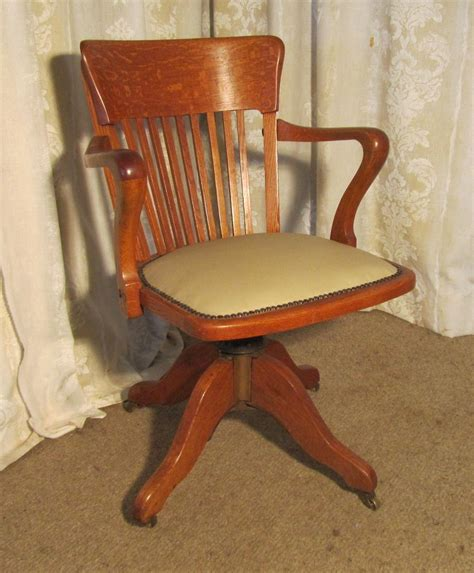 oak swivel desk chair edwardian arts and crafts swivel oak desk chair antiques