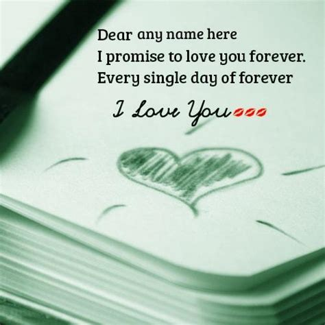 You Forever Cards write name i you greeting cards images