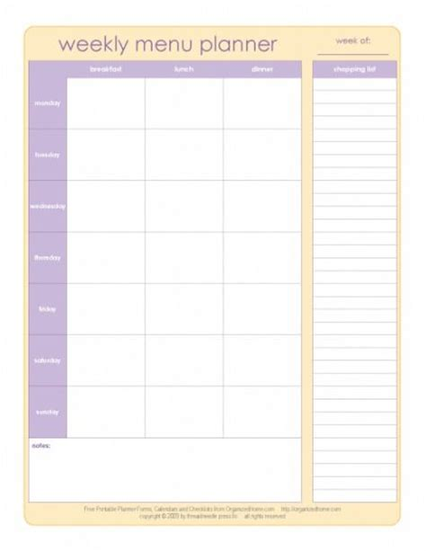 home menu template organized home menu planner template kamley has a