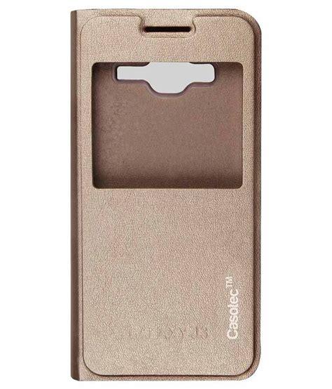 Flip Cover Samsung J3 Murah Casotec Flip Cover For Samsung Galaxy J3 Gold Buy