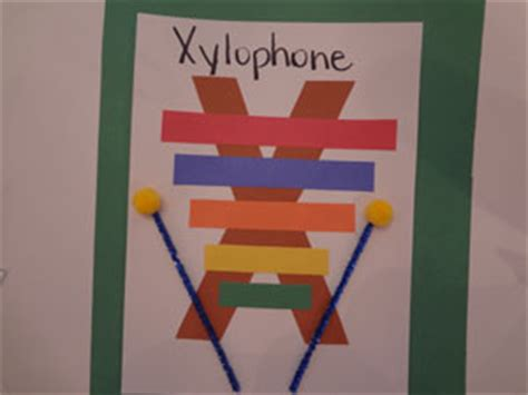 project x craft letter x xylophone craft all network