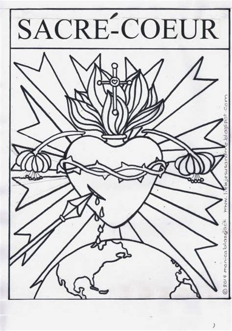 sacred heart coloring page little jesus and me sacre coeur sacred heart coloring