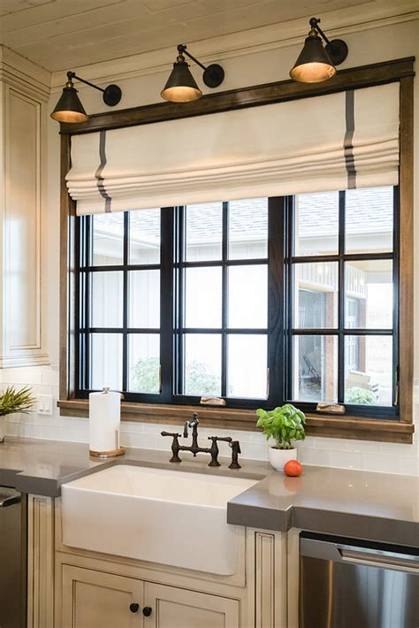 window treatments for kitchens painted black window trim