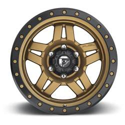 Matte Bronze Truck Wheels Fuel Wheels D583 Anza Matte Bronze W Black Ring