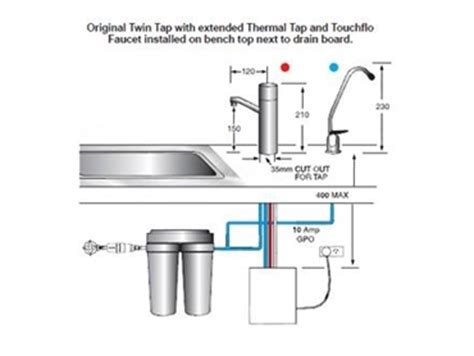 under bench hot water system instant boiling and chilled water from two separate taps