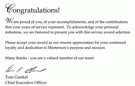 Award Winner Letter Of Congratulations 11 Sle Congratulation Letters Sle Letters Word
