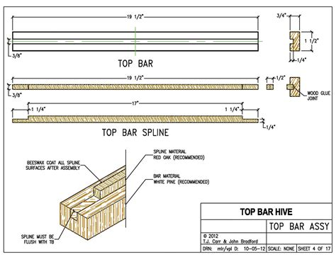 Top Bar Hive Plans by Standard Top Bars For The Beekeeper Bee Culture