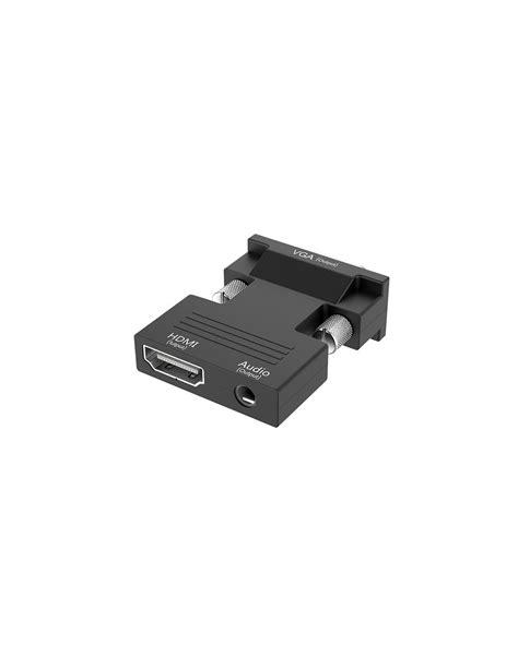 Conversor HDMI para VGA Adaptador Áudio e Video Digital