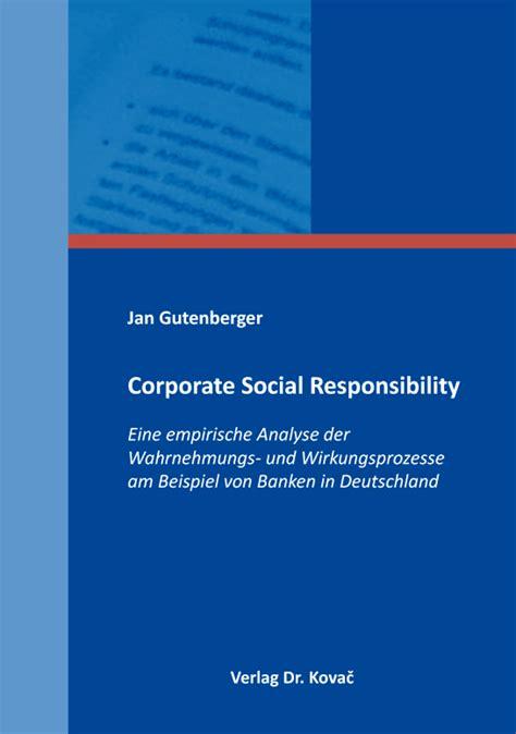 dissertation on corporate social responsibility corporate social responsibility dissertation jan