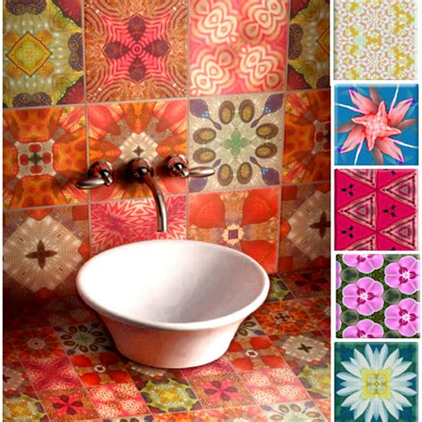 Colorful Tiles For Bathroom by Crinson S Colourful Tiles The Style Files