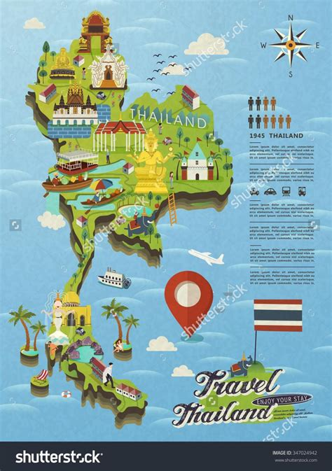 map of tourist attractions thailand attractions map thailand tourist attractions