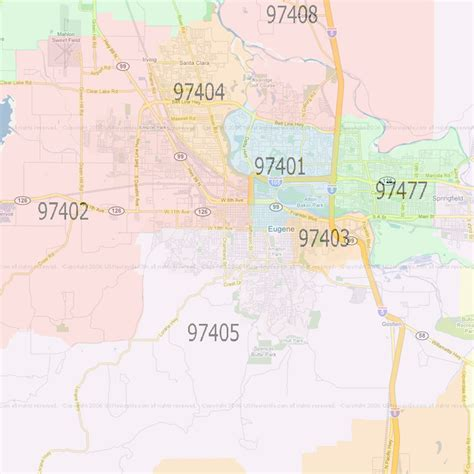 map of eugene oregon zip codes eugene oregon zip codes map