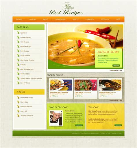domande di cucina template siti web per un sito di cucina
