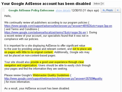 adsense disabled internet marketing tactics tips and reviews by henry zeng