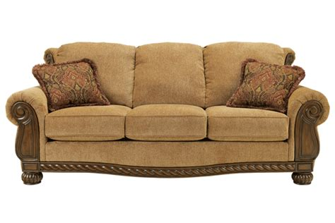 sofas with wood trim ashley sofa with wood trim quotes