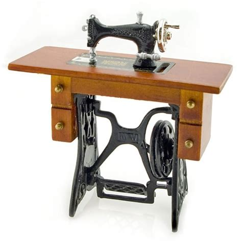 Table For Sewing Machine by Antique Black Sewing Machine Table Dollhouse Miniature