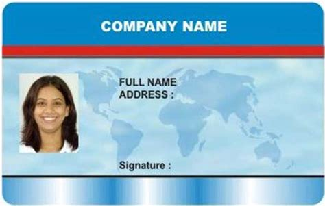 pvc id card template buy printed id cards from nor enterprise mumbai india