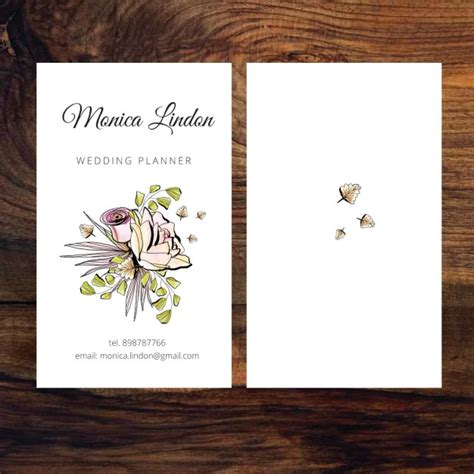 wedding planner business cards business card of wedding planner vector free