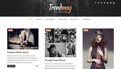 trendmag blogger template full version premium themexpose