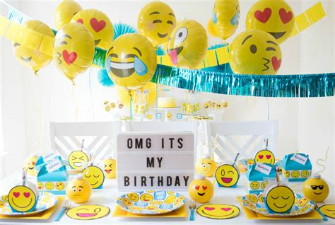 celebration emoji emoji birthday party black twine