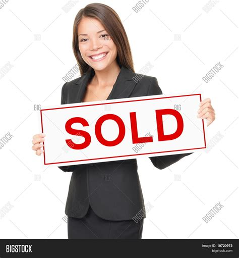 sold one womans true 0751543985 realtor real estate agent woman image photo bigstock