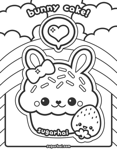 Coloring Page Kawaii by Kawaii Food Coloring Pages Coloring Home
