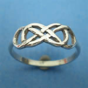 Celtic Infinity Knot Wedding Ring Celtic Knot Infinity X Infinity Ring Silver