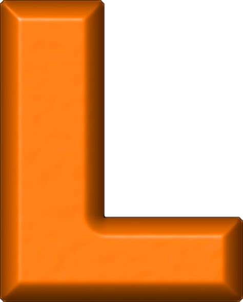 With A L by Presentation Alphabets Orange Refrigerator Magnet L
