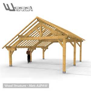 charpente abris bois abris 2 pans asym 233 trique charpente bois wood structure