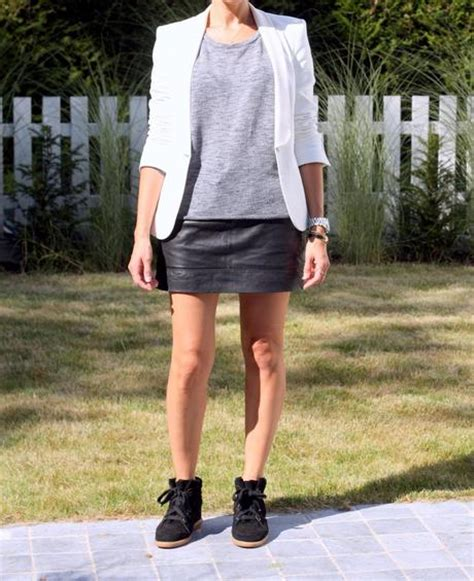 the leather skirt and the boston sneakers paperblog