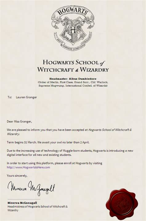 Acceptance Letter Hogwarts Hogwarts Is Here You Can Now Enrol To Study Witchcraft And Wizardary Memeburn