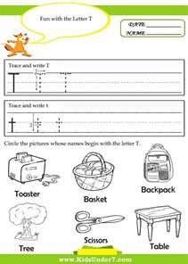 free letter t worksheets for kindergarten writing