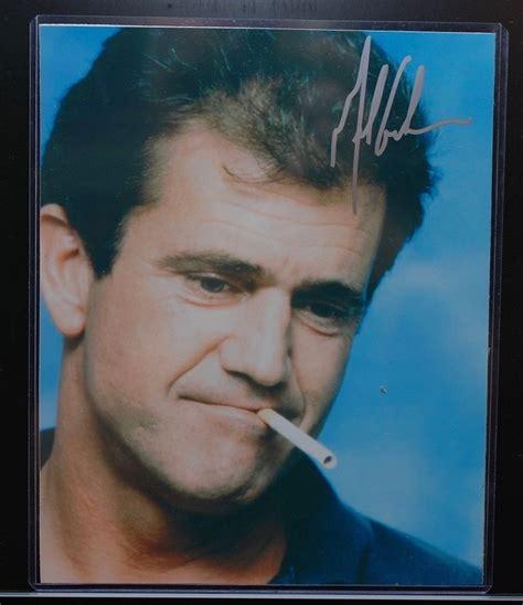 celebrity autographs coa vintage mel gibson celebrity autograph signed photo w coa