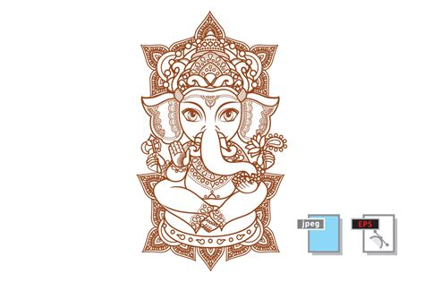 indian elephant henna tattoo hindu elephant god lord ganesh hinduism paisley