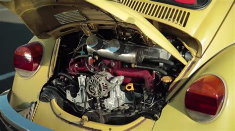 modded cars engine mighty car mods sleeper 1974 beetle with a ej25 engine