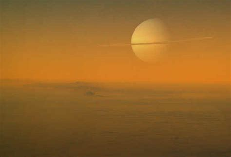 saturns largest moons saturn largest moon titan may host methane loving forms