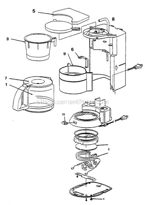 mr coffee parts diagram mr coffee pr15 parts list and diagram ereplacementparts