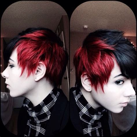 hairstyles black and red hair black and red hair short best short hair styles