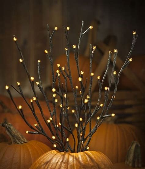 Nice Outdoor Pre Lit Christmas Tree #5: 09-orange-LED-pre-lit-branches-placed-into-pumpkins-for-fall-displays.jpg