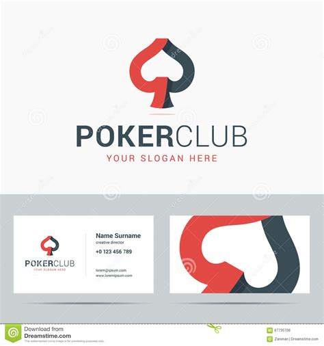 business card sign up template logotype and business card template for club stock