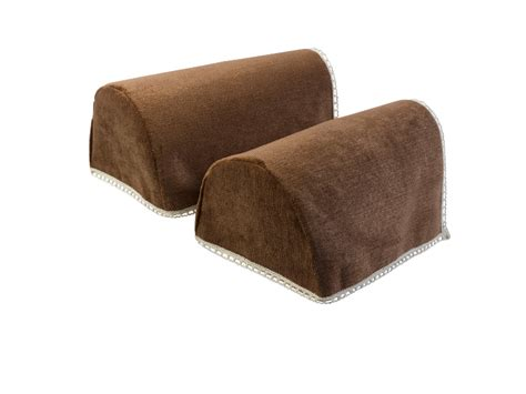 decorative chenille rounded arm caps pair antimacassar sofa chair protectors ebay