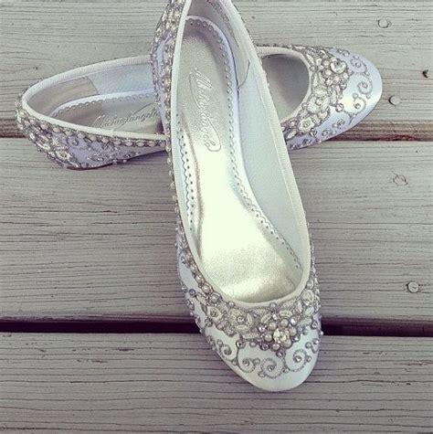 Flat Slippers For Wedding by Cinderella S Slipper Bridal Ballet Flats Mega Wedding