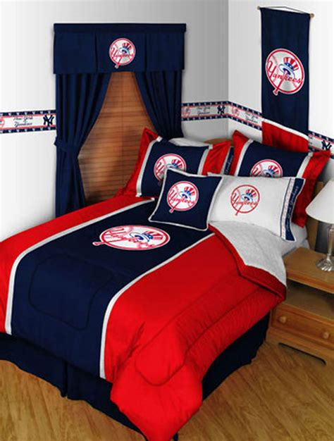 New York Yankees Bed Set Mlb New York Ny Yankees 5pc Boys Bed In A Bag Baseball Bedding Set