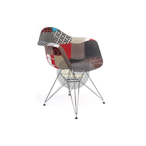 Coloured Eames Chairs by Replica Eames Dar Eiffel Chair Multi Coloured Patches