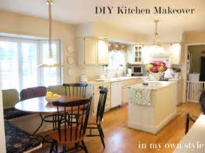 diy kitchen makeover how to paint cabinets inmyownstyle