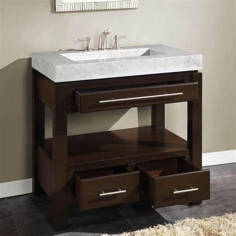 silkroad exclusive  single sink cabinet carrara white marble vanity top sink  holes