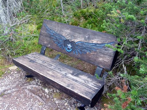oblique bench another side of this life cr2013 lake mcarthur and all